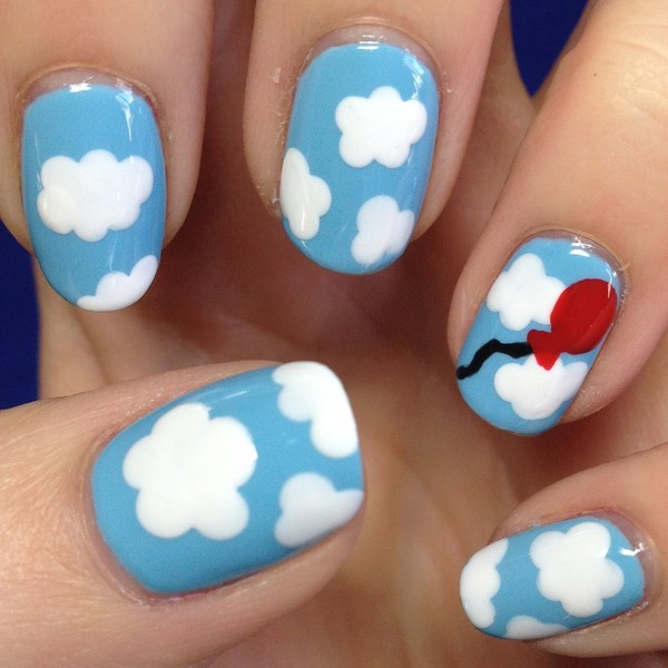 Nail art nuage pour debutant niveau 2 - Nail art debutant ...